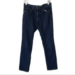 MOSSIMO Mid-Rise Straight Jeans Dark Wash Size 8R